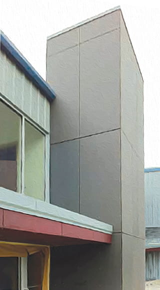 Cladding in Pewter