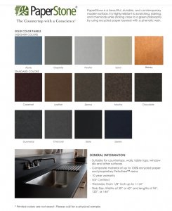 PaperStone Color Card
